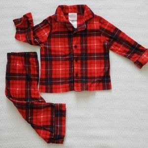 Red Plaid Winter Flannel PJ set 12 months